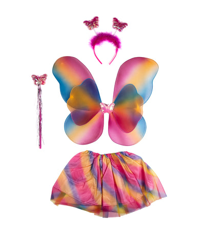 halloween fairy princess butterfly wings set (6-9 years old)