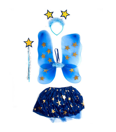 halloween blue fairy princess wings set