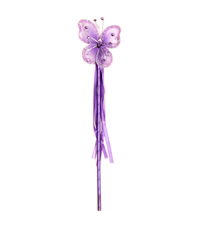 halloween purple butterfly wand with gem and tassel