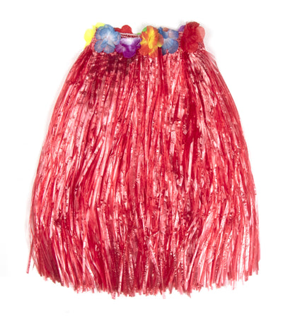 halloween red girls grass skirt (6-9 years old)