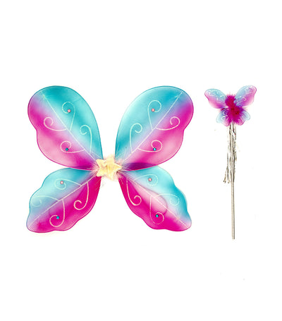 halloween two-toned butterfly wings with star and wand