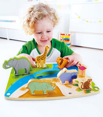 hape wild animal peg puzzle