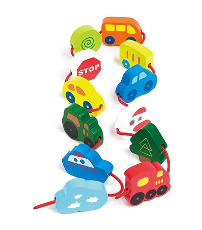 hape lacing vehicles