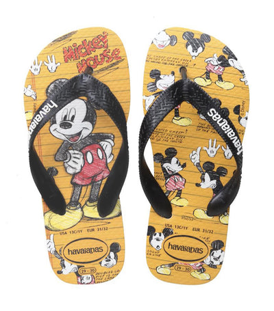 havaianas kids yellow and black disney stylish