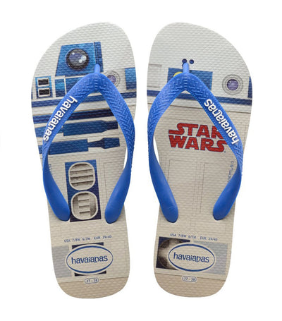 havaianas kids white and blue star wars