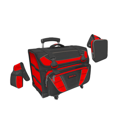 hawk black and red box house trolley bag