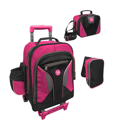 hawk black and fuchsia upright trolley bag