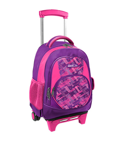 hawk purple and fuchsia backpack trolley bag