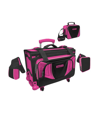 hawk black and fuchsia box type stroller