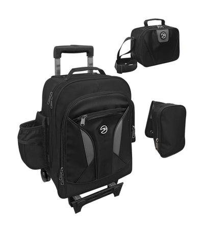 hawk black upright trolley bag