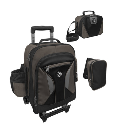 hawk charcoal and black upright trolley bag