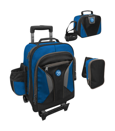 hawk royal blue and black upright trolley bag