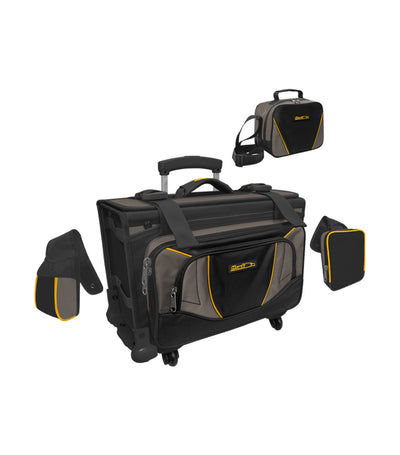 hawk black and gray box trolley bag