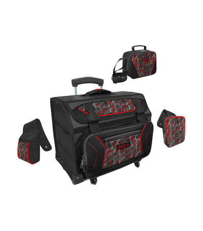 hawk red house type trolley bag