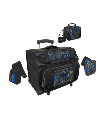 hawk royal blue house type trolley bag