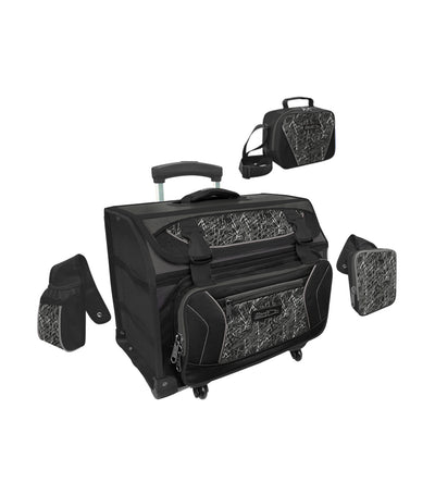 hawk black house type trolley bag