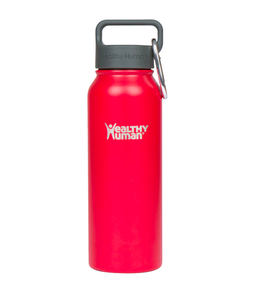 healthy human red hot 21oz stein insulated water bottle