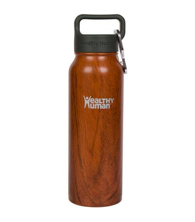 healthy human harvest maple 21oz stein insulated water bottle