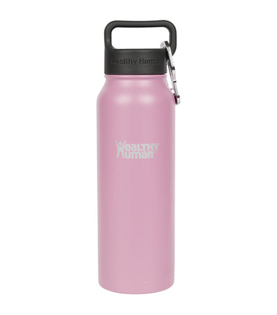 healthy human petal pink 21oz stein insulated water bottle