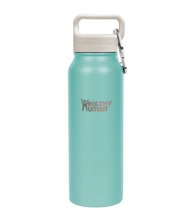 healthy human neo mint 21oz stein insulated water bottle