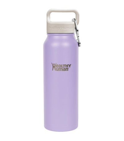 healthy human lavender 21oz stein insulated water bottle