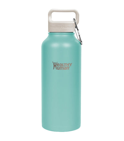 healthy human neo mint 32oz stein insulated water bottle