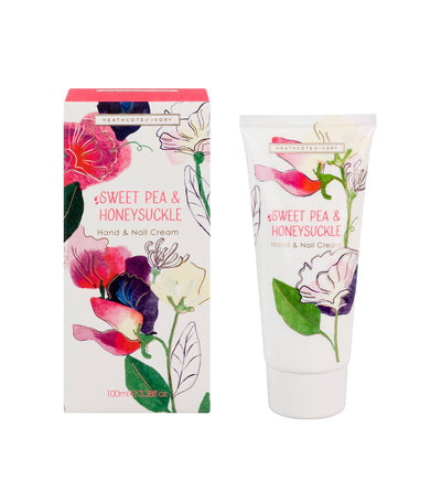 heathcote & ivory sweet pea and honeysuckle hand and nail cream