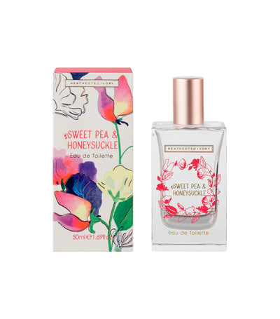 heathcote & ivory sweet pea and honeysuckle eau de toilette