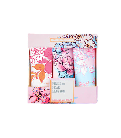 Heathcote & Ivory Pinks & Pear Blossom Mini Hand & Nail Creams set