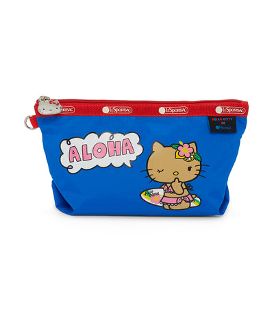 hello kitty x lesportsac medium sloan cosmetic pouch aloha hello kitty