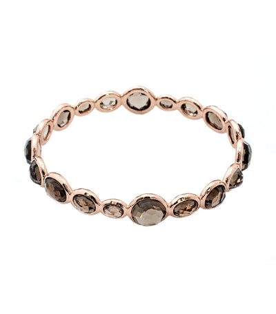 ippolita rosé rock candy mini gelato bangle with smokey quartz