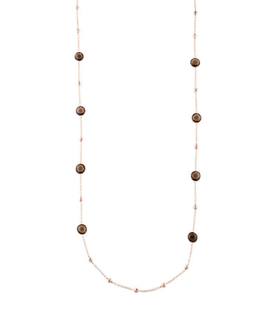 ippolita rosé rock candy mini lollipop and ball necklace in smokey quartz 37""