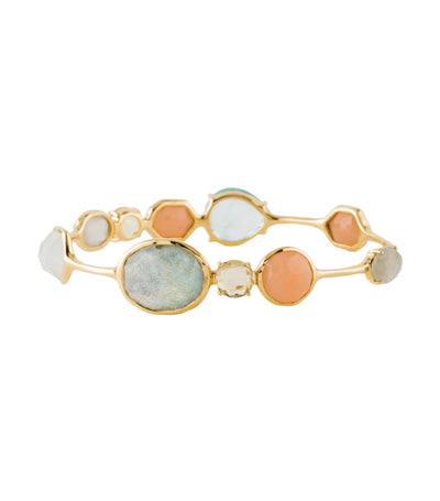 ippolita 18k gold rock candy open gelato kiss bangle in silk road dream