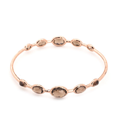 ippolita rosé rock candy bangle in smokey quartz