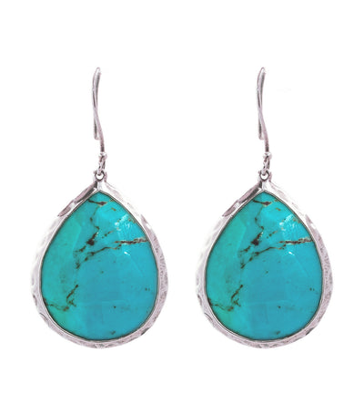 ippolita sterling silver rock candy large teardrop earrings with turquois