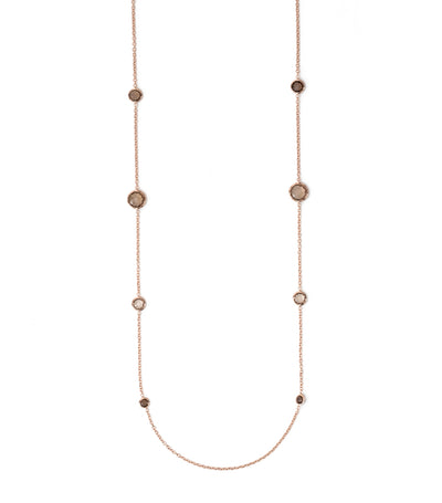 ippolita rosé rock candy lollipop station necklace in smokey quartz 37""