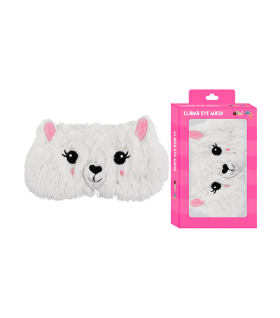 iscream white llama furry eye mask