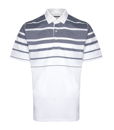 jack nicklaus cotton engineered birdseye stripe polo shirt bright white
