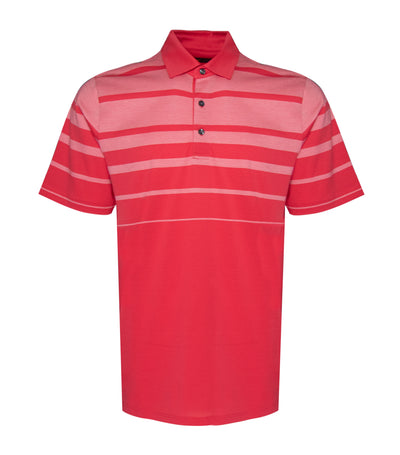 jack nicklaus cotton engineered birdseye stripe polo shirt geranium