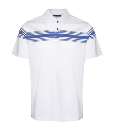 jack nicklaus mercerized cotton chest stripe polo shirt bright white