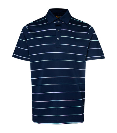 jack nicklaus cotton fine line stripes polo shirt classic navy