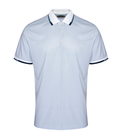 jack nicklaus polyester all-over printed polo shirt bright white