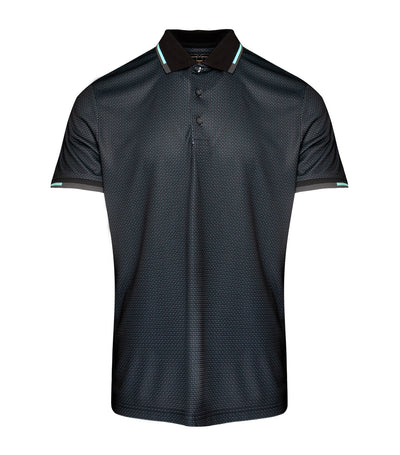 jack nicklaus polyester all-over printed polo shirt caviar