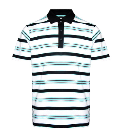 jack nicklaus cotton fine line stripes polo shirt caviar