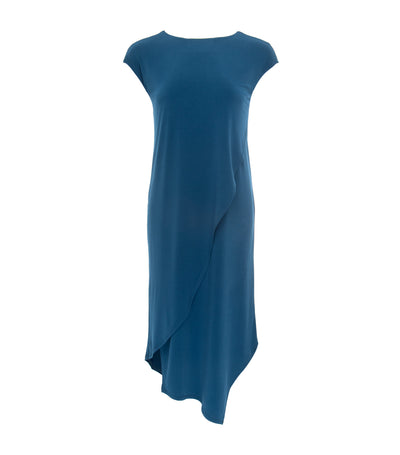 jill by jojie loren daylily asymmetrical dress blue