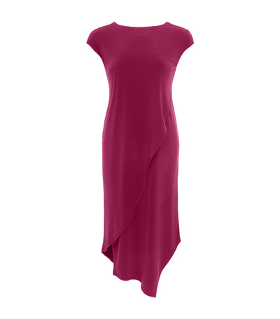 jill by jojie lorren daylily asymmetrical dress fuchsia