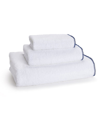 kassatex picot lapis blue wash towel