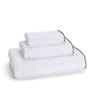 kassatex picot grey bath towel