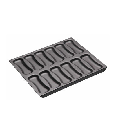 kitchencraft masterclass non-stick 12 hole eclair pan