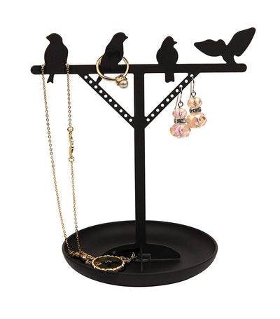 Bird Jewelry Stand Black